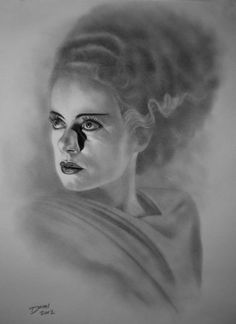 Elsa Lanchester as The Bride of Frankenstein.like the focus on her facial features Beetlejuice, Elsa Lanchester, Frankenstein's Monster, Monster Squad, Beautiful Dark Art, Vintage Horror, Vintage Tv, Famous Monsters, Classic Horror Movies