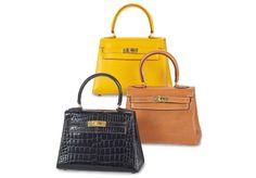 A Black Alligator Mini Kelly Bag