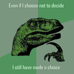 Choice - don't let anyone tell you don't have one.