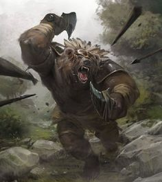 Bear Warrior by Slawomir Maniak