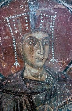 The fresco of Solomon in Saint Sophia Cathedral in the Russian town of Veliky Novgorod. 1109.