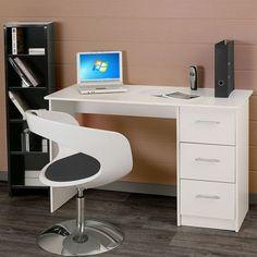 ESSENTIELLE Bureau 121 cm blanc - Achat / Vente bureau ESSENTIELLE Bureau 121 cm Bois - Panneaux de particules - Cdiscount