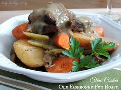 Slow Cooker Old Fashioned Pot Roast | Cozy Country Living
