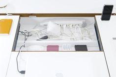 Bluelounge Studio Desk with Built-in Power Storage, Remodelista