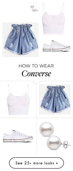 """Sans titre #1252"" by stalialightwood on Polyvore featuring WithChic, BasicGrey and Converse"