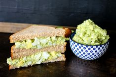 No-Mayo Avocado Egg Salad is the healthiest version of Egg Salad! Cut out the fatty mayonnaise by using creamy avocado and Greek yogurt for the best egg salad!