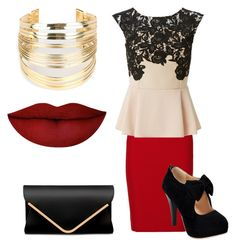 """""""Untitled #79"""" by allisonalbright on Polyvore featuring Roland Mouret, Lipsy, Anastasia Beverly Hills and WithChic"""