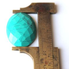 Turquoise Cut Gemstone, Green,Oval Shaped Loose Gemstone 00TC#a Turquoise Gemstone, Loose Gemstones, Green
