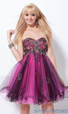 Strapless Sweetheart Babydoll Dress HS-27741