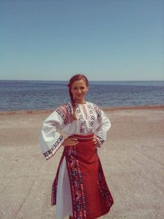 Traditional Romanian costume from South of Dobrogea, Constanta Folk Costume, Costumes, Popular, Traditional Outfits, Anthropologie, Saree, Women's Fashion, Accessories, Beautiful