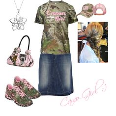 Camo Girl Outfit by modesty-forhisglory on Polyvore
