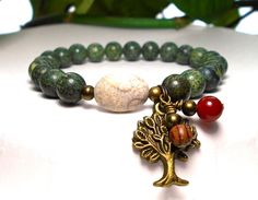 Nature Girl Woodland Bracelet with a Tree Charm