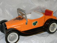Vntg NYLINT Pressed Steel MODEL T FORD HOT ROD ROADSTER Rumble Parts Restore