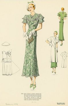 1930s Fashion Plate from NYPL.