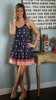 Such a cute and easy sundress to wear during the Spring and Summer!