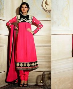 Picture of Delicate Pink Party Wear Salwar Kameez