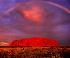 Ayers Rock, Northern Territory, Australia Sunset Strip, a picnic area in Uluru-Kata Tjuta National Park. Outback Australia, Australia Travel, Parc National, National Parks, Ayers Rock Australia, Places To Travel, Places To See, Travel Destinations, Rainbow Serpent