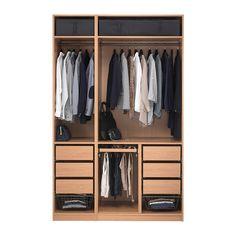 PAX Šatní skříň - hladce zavírací pant - IKEA