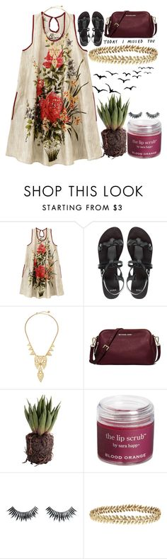 """lee"" by kianahall ❤ liked on Polyvore featuring ASOS, Jules Smith, MICHAEL Michael Kors, Sara Happ, Napoleon Perdis and Ellen Hunter"