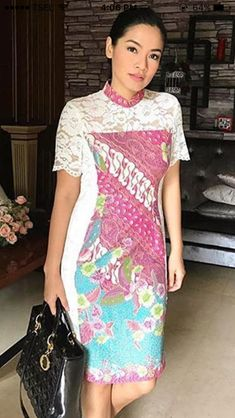 Batik Brokat I Batik Di 2019 Sketsa Model Pakaian Gaun Renda