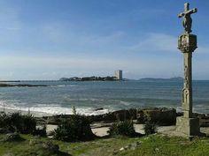 Ria de Vigo. Playa de Fontaiña y de La Sirenita. Isla de Toralla