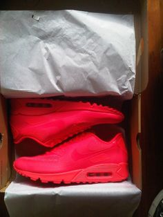 Nike Air Max 90 Hyperfuse Solar Red On Feet