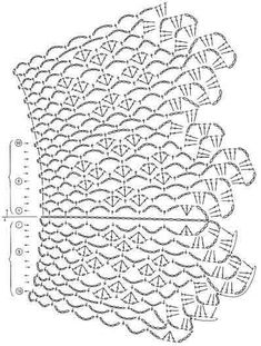 Women's Crochet Top Pattern PDF Japanese Pattern with Charts Ladies Jumper Pullover Yoke Sweater Dia Crochet Collar Pattern, Col Crochet, Crochet Motif Patterns, Crochet Symbols, Crochet Lace Edging, Crochet Borders, Crochet Diagram, Crochet Poncho, Crochet Chart