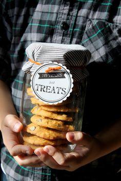 "Teacher Gift for Halloween ""not tricks, just treats"" for the teacher!"