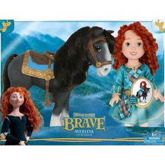 """Disney Pixar Brave Merida with Angus Doll - Forest Adventure - Tolly Tots - Toys """"R"""" Us"""