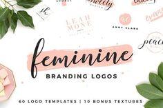 50% OFF | Feminine Branding Logos by Davide Bassu on @creativemarket