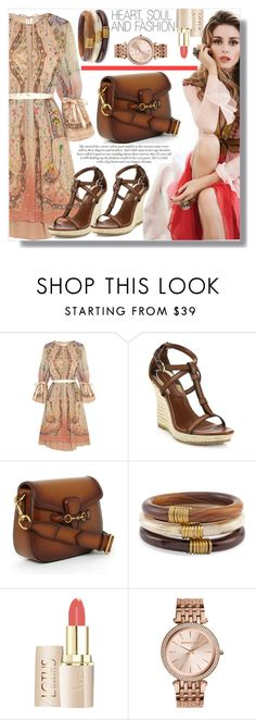 """Spring has sprung and Sunny days have begun"" by xwafflecakezx ❤ liked on Polyvore featuring Gabor, Etro, Burberry, Gucci, Chico's and Michael Kors"