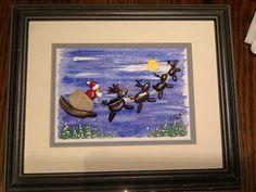 Pebble art Santa. www.sticksnstonesart.ca. #crafts #stone #painting #pebble #homemade #Christmas