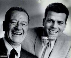 John Wayne with son Patrick John Wayne Quotes, John Wayne Movies, Hollywood Stars, Classic Hollywood, Vintage Hollywood, Russell Johnson, Ken Curtis, Westerns, Wayne Family