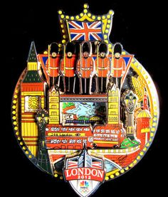 2012 London NBC Olympic Pin by Charles Fazzino. #popart #3dpopart #charlesfazzino #sportsart #olympicart #olympicpin #London2012 #Olympics2012 #2012LondonOlympics #LondonOlympics #OlympicGames
