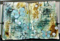 Creativity - Art journal with Bistre - Bister