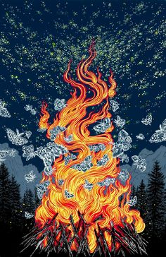 Yuko Shimizu, Key visual for 2015 CAMP Festival, a tech/design/creative conference in Calgary, Canada.