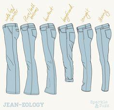 Jean Styles, Bootcut, Straight, Skinny, Boyfriend, Flare, Bell Bottom, Trouser, Wide-Leg