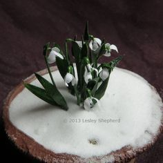 More than 30 Miniature Scale Plants and Flowers to Make From Paper: Make Dollhouse Scale Snowdrops