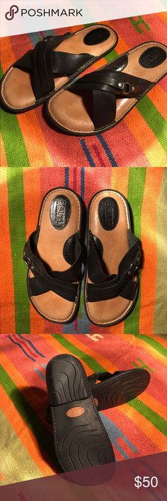 Born men's Sandal Hardly worn and in perfect condition black leather sandal. Comfortable, dressy or not. Born Shoes Sandals & Flip-Flops