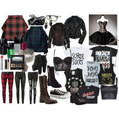 GRUNGE SHOOT: avril lavigne outfit