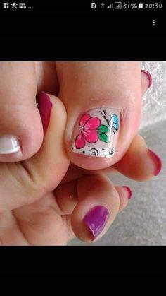 Manicure And Pedicure, Pedicures, Nail Picking, Nails & Co, Summer Toe Nails, Toe Nail Art, Nail Designs, Beauty, Pretty Pedicures