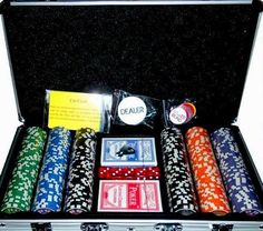300pc 11.5 gram Premium Tournament Ready High Roller Poker Chip Set w/ Free 2-Decks Plastic Playing Cards by Poker. $42.99. This is a great tournament ready set for your home game. The higher denominations allow for coloring up and a professional Casino style game.