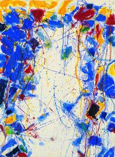 Sam Francis (1923-1994), Untitled, 1958, Collage sur papier,  75.5 x 56 cm, © 2012, ProLitteris Zurich / Photo : Peter Schälchli