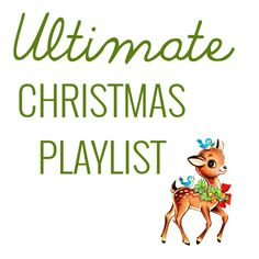 Ultimate Christmas Playlist.. I totally agree with her list! A great mix of modern jams and classics!