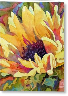 Sun Jewels 2 Greeting Card by Wendy Westlake Watercolor Sunflower, Sunflower Art, Watercolor Flowers, Sunflower Paintings, Painting & Drawing, Watercolor Paintings, Watercolors, Watercolor Artists, Body Painting