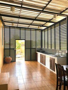Kitchen Renovation Design, Kitchen Room Design, Outdoor Kitchen Design, Home Room Design, Interior Design Kitchen, Wooden House Design, Bungalow House Design, Small House Design, Dirty Kitchen Design Philippines