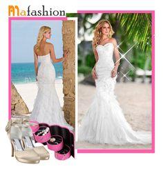 """""""Mafashion 7"""" by selmina ❤ liked on Polyvore featuring bride, beautiful, weddingdress and mafashion"""