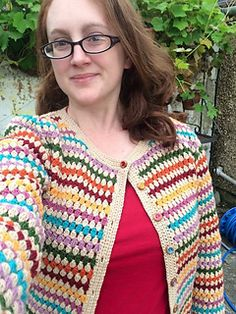 The buttons were wooden ones, painted with humbrol enamel paints :) Crochet Jumper, Crochet Jacket, Knit Crochet, Dress Patterns, Crochet Patterns, Crochet Rings, Crochet Shawls And Wraps, Cardigan Pattern, Crochet Basics