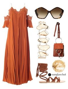 """Summer of Love"" by dominosfalldown ❤ liked on Polyvore featuring self-portrait, Monique Péan, Ancient Greek Sandals, Wouters & Hendrix, Miu Miu, lace, pleatedskirts and shadesofyou"