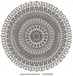 Mandala. Round Ornament Pattern. Vintage Decorative Elements. Hand Drawn Background. Islam, Arabic, Indian, Ottoman Motifs. Ilustración vectorial en stock 220160527 : Shutterstock